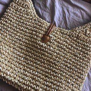 Eddie Bauer straw tote 👜 bag or purse